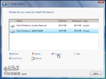 تثبيت Windows 7 على ماكنتوش الخاص بك
