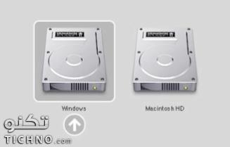 طريقة الاختيار بين الماك والويندوز عند تشغيل الجهاز