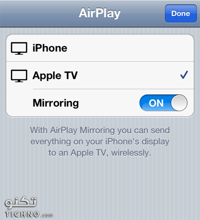 طريقة عرض شاشة الايباد على التلفاز