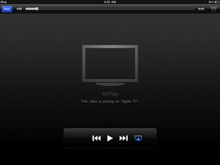 youtube on apple tv air play