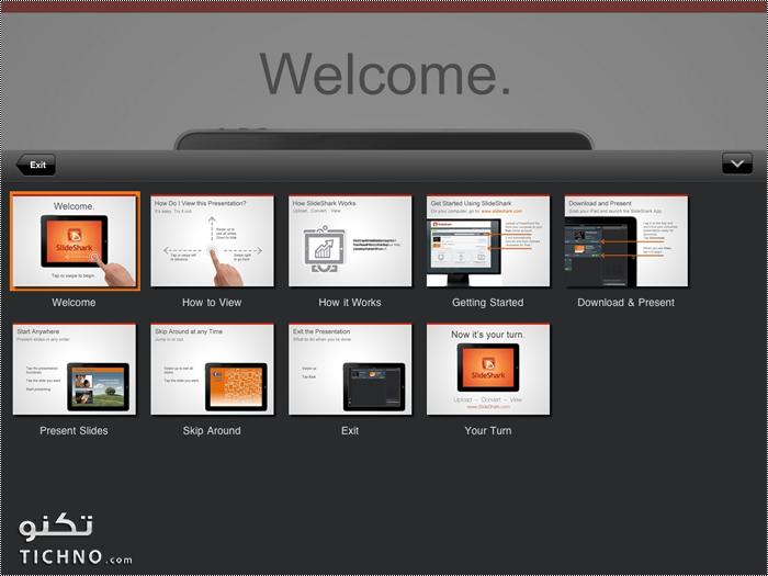شرح تطبيق SlideShark لعرض ملفات البوربوينت على الآيباد