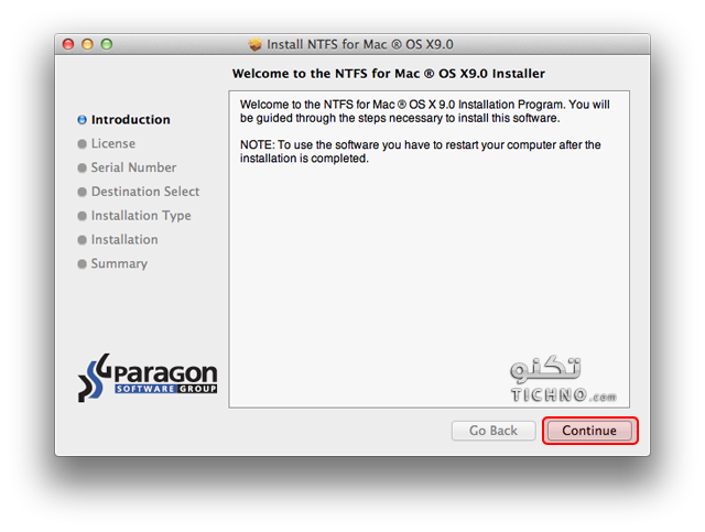 Paragon-NTFS-for-Mac-v9.0.1 تشغيل الهاريسك على الماك