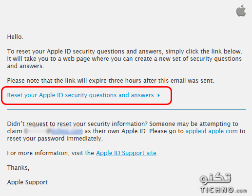 how to find apple security questions