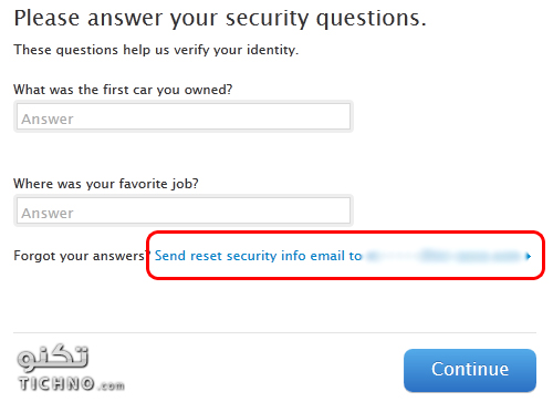 how to change the security question is apple id