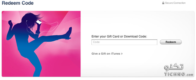 redeem itunes gift card