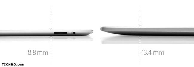 مقارنة آي باد 2 مع آي باد 1 - iPad 2 vs iPad1