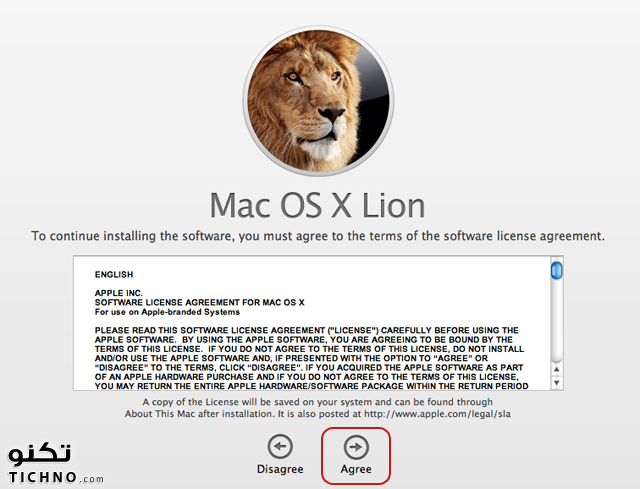 OS X Lion installation - الترقية لنظام ليون في الماك